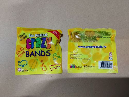 Crazy Bands (Glow in the Dark) 1 packet of 12 bands
